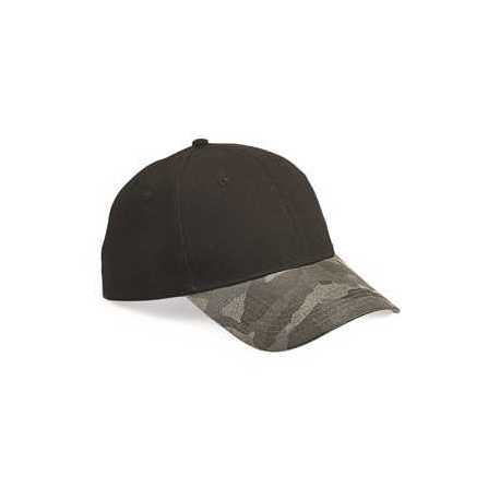Outdoor Cap GHP100 Canvas Crown Cap with Weathered Camo Visor