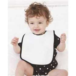 Rabbit Skins 1003R Infant Contrast Trim Terry Bib