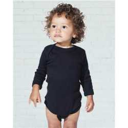 Rabbit Skins 4411 Infant Long Sleeve Baby Rib Bodysuit