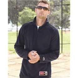 Rawlings 9751 Quarter-Zip Flatback Mesh Fleece Pullover