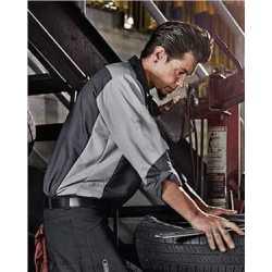 Red Kap SY10 Long Sleeve Automotive Crew Shirt