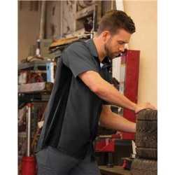 Red Kap SY42L Men's Performance Plus Short Sleeve Shop Shirt with Oilblok Technology - Long Sizes