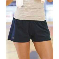 "Russell Athletic 64BTTX Women's Essential Jersey 3"" Inseam Shorts"