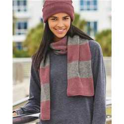 Sportsman SP02 Rugby-Striped Knit Scarf