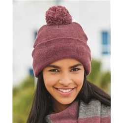 "Sportsman SP15 Pom-Pom 12"" Knit Beanie"