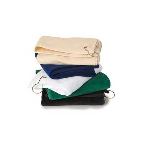 Towels Plus T68GH Deluxe Hemmed Hand Towel with Corner Grommet and Hook