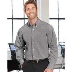 Van Heusen 13V0426 Yarn Dyed Mini Check Long Sleeve Shirt