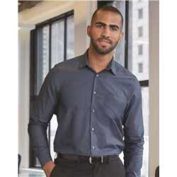 Van Heusen 13V0465 Chambray Spread Flex Collar Shirt