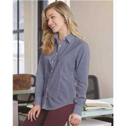 Van Heusen 13V0466 Women's Chambray Spread Collar Shirt