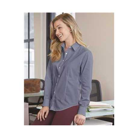 Van Heusen 13V0466 Women's Chambray Spread Collar Shirt
