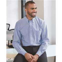 Van Heusen 13V0467 Blue Suitings Non-Iron Patterned Shirt