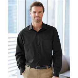 Van Heusen TBDV Broadcloth Point Collar Solid Shirt