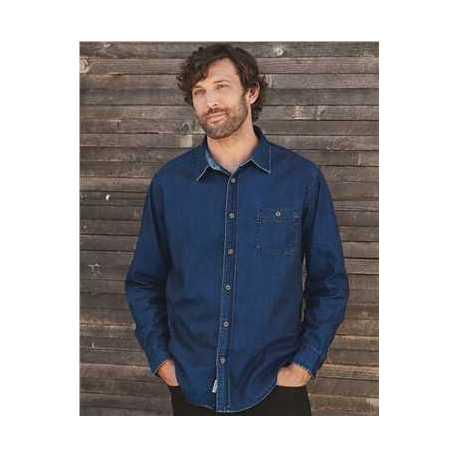 Weatherproof 154695 Vintage Denim Long Sleeve Shirt