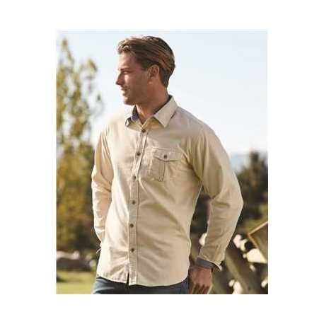 Weatherproof 154867 Vintage Mini Cord Long Sleeve Shirt