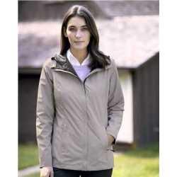 Weatherproof 17604W Women's 32 Degrees Melange Rain Jacket
