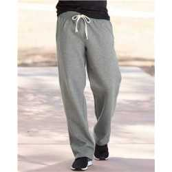 Weatherproof 7766 Cross Weave Open-Bottom Sweatpants