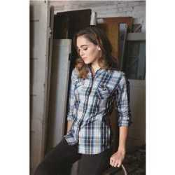 Weatherproof W154680 Vintage Women's Plaid Long Sleeve Shirt