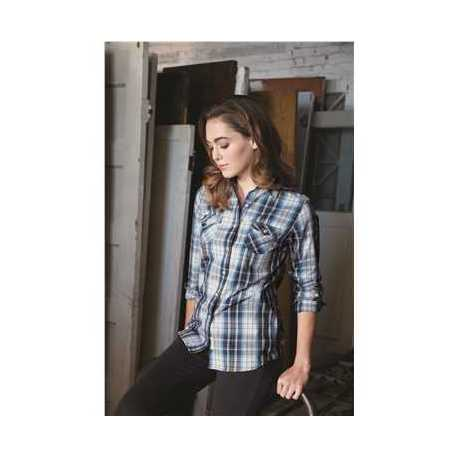 Weatherproof W154680 Vintage Women's Plaid Long Sleeve Shirt