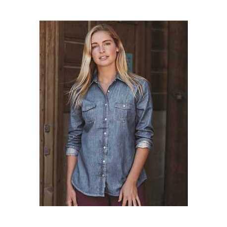 Weatherproof W154695 Vintage Women's Denim Long Sleeve Shirt
