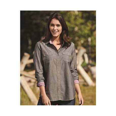 Weatherproof W154885 Vintage Women's Chambray Long Sleeve Shirt