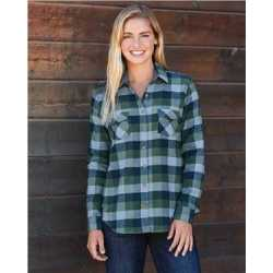 Weatherproof W164761 Women's Vintage Brushed Flannel Long Sleeve Shirt