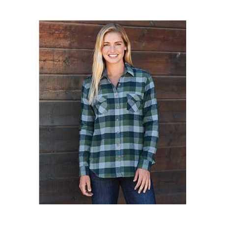 Weatherproof W164761 Women's Vintage Brushed Flannel Long Sleeve Shirt