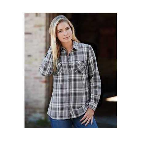 Weatherproof W178573 Vintage Women's Burnout Flannel Shirt