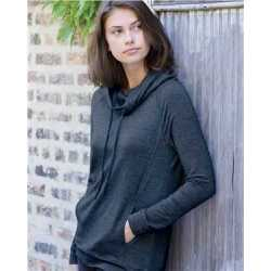 Weatherproof W18706 Women's Heat Last Fleece Faux Cashmere Funnel Neck Sweatshirt