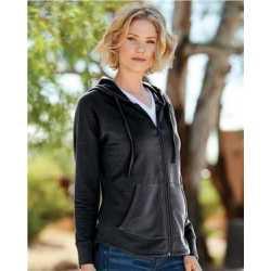 Weatherproof W20121 Women's Heat Last Fleece Faux Cashmere Full-Zip Hooded Sweatshirt
