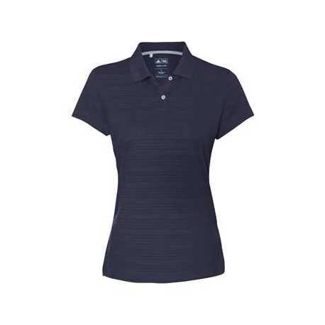 Adidas A162 Women's ClimaLite Textured Short Sleeve Polo