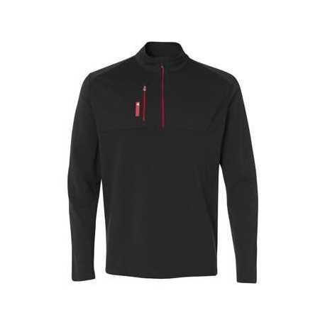 Adidas A195 Mixed Media Quarter-Zip Jacket