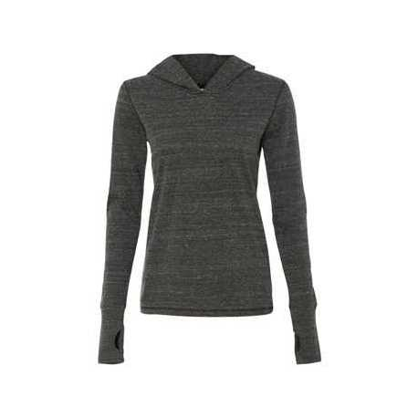 All Sport W3101 Women's Triblend Long Sleeve Hooded Pullover