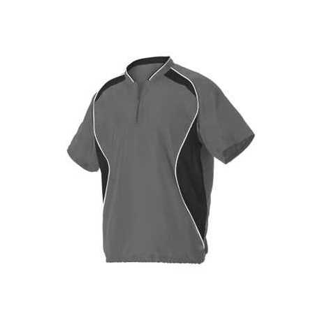 Alleson Athletic 3JSS13Y Youth Short Sleeve Baseball Batters Jacket