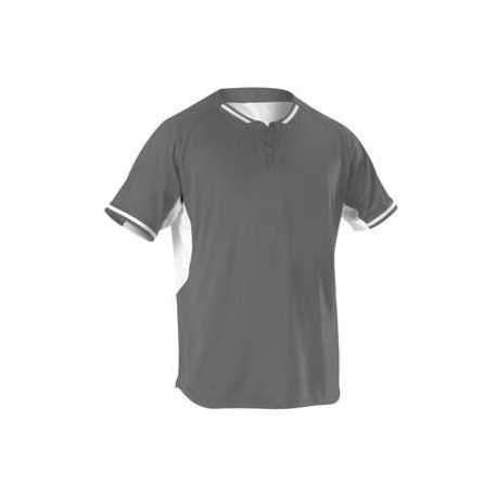 Alleson Athletic 524PDY Youth Two Button Baseball Jersey