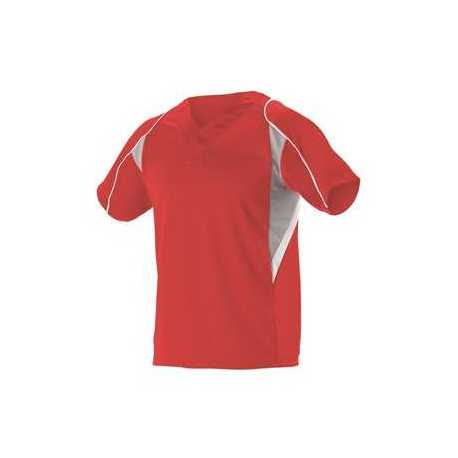 Alleson Athletic 529Y Youth Two Button Henley Baseball Jersey