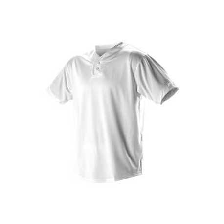 Alleson Athletic 52MTHJ Two Button Mesh Baseball Jersey With Piping