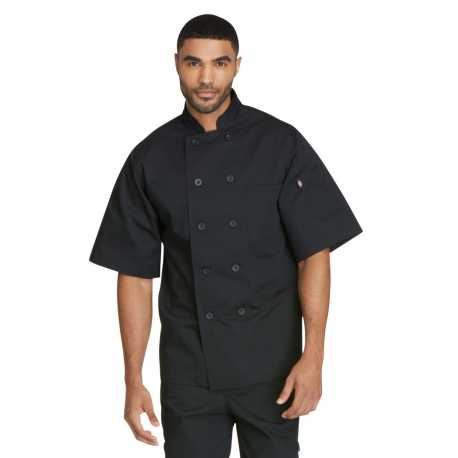 Dickies DC49 Unisex Classic 10 Button Short Sleeve Chef Coat