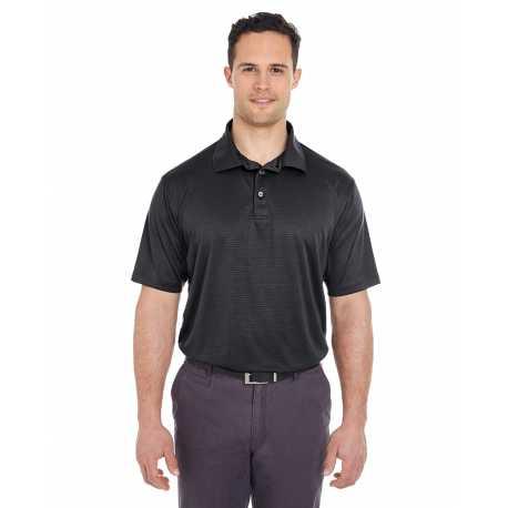 UltraClub 8220 Men's Cool & Dry Jacquard Stripe Polo