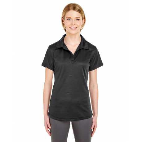 UltraClub 8220L Ladies' Cool & Dry Jacquard Stripe Polo