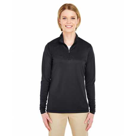 UltraClub 8424L Ladies' Cool & Dry Sport Performance Interlock Quarter-Zip Pullover