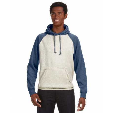 J America JA8885 Adult Vintage Heather Pullover Hood