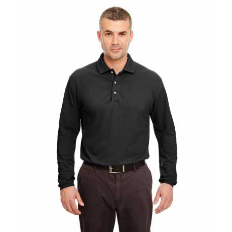 UltraClub 8532 Adult Long-Sleeve Classic Pique Polo