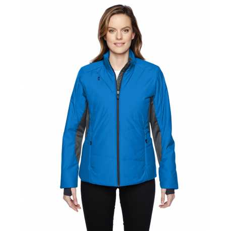 North End Sport Red 78696 Ladies' Immerge Insulated Hybrid Jacket with Heat Reflect Technology