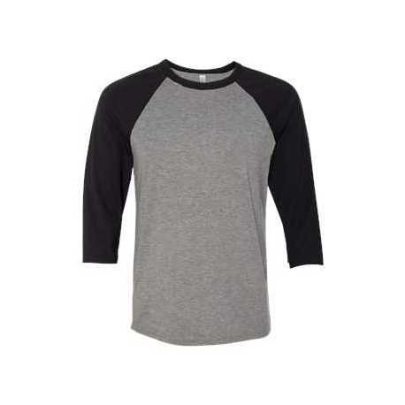 Bella + Canvas 3200C Unisex Three-Quarter Sleeve Baseball T-Shirt
