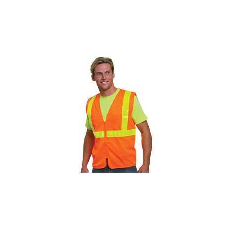 Bayside BA3780 Mesh Safety Vest - Orange