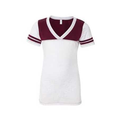 Blue 84 JBV Juniors' Burnout V-Neck Football T-Shirt