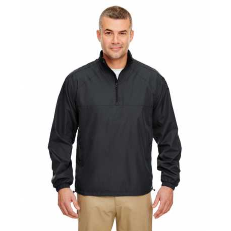 UltraClub 8936 Adult Micro-Poly Quarter-Zip Windshirt