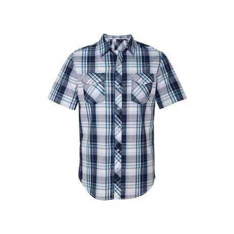 Burnside 9202 Short Sleeve Plaid Shirt