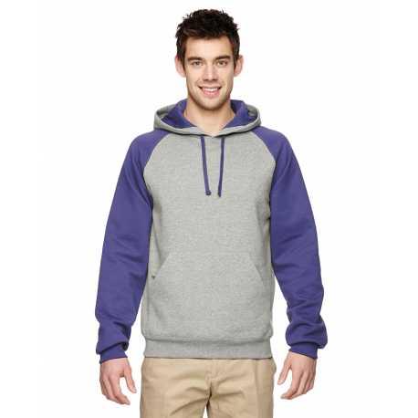 Jerzees 96CR Adult 8 oz. NuBlend Colorblock Raglan Pullover Hood