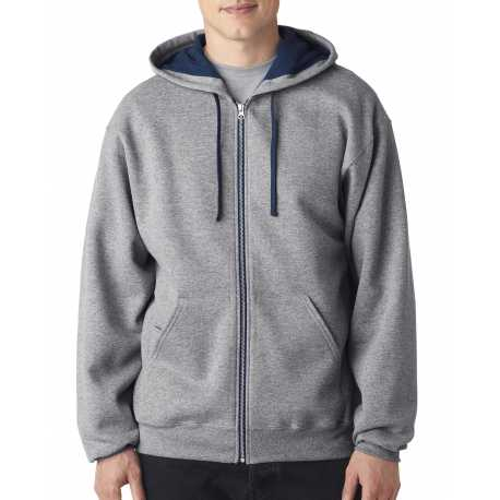 Jerzees 93CR Adult 8 oz. NuBlend Contrast Full-Zip Hood